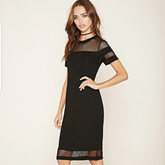 b6d6eccfa3b6 Forever 21 Dresses & Skirts - FOREVER 21 Black Net Midi Dress